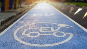 EV road sign