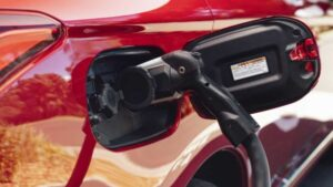 Electric vehicle charging - close-up