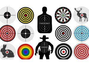 A series of bullseye targets