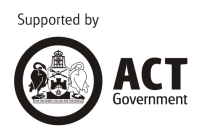 Supported by the ACT Government